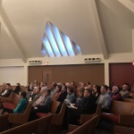 Ottawa, ON: Praying together in the 'boat' of the church. The congregation at the ecumenical service.