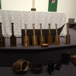 Yorkton, SK: The worship symbols of boat and oars. Pastor Karen Stepko, Christ Lutheran Church in Rhein, led an ecumenical worship service hosted by St Gerard Roman Catholic Church on January 20. Other services were hosted by Salvation Army Yorkton on January 21, Yorkton Alliance Church on January 22, and Parkland Community Church on January 23.